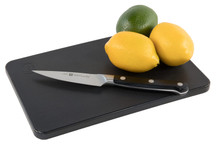 Plastic black bar board for garnish and wedges