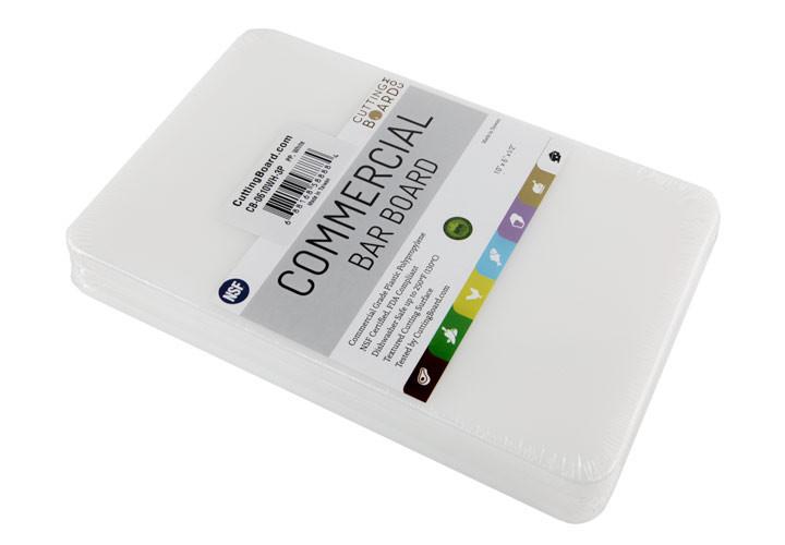White plastic bar boards