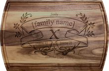 Personalized Family Banner Board Engraving