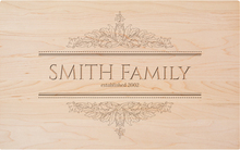 Personalized Acanthus Family Name Engraving