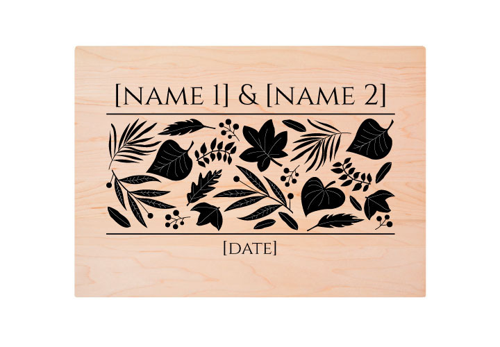 Engraved Custom Wedding Cutting Board