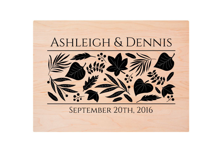 Personalized Cutting Board with Wedding Engraving