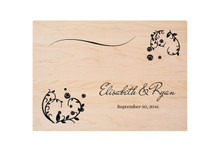 Wedding Invitation Custom Engraved Cutting Board