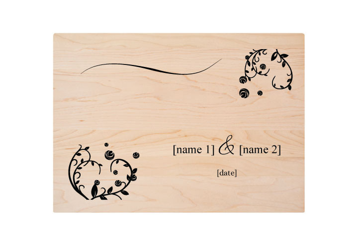 Personalized Wedding Engraved Cutting Board