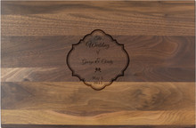 Personalized Scalloped Wedding Engraving