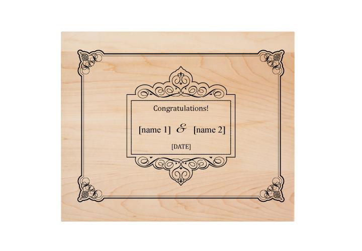 Custom Engraved Wedding Cutting Board