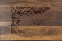 Personalized Tree Initials Anniversary Engraving