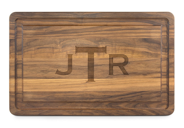 personalized large walnut cutting board