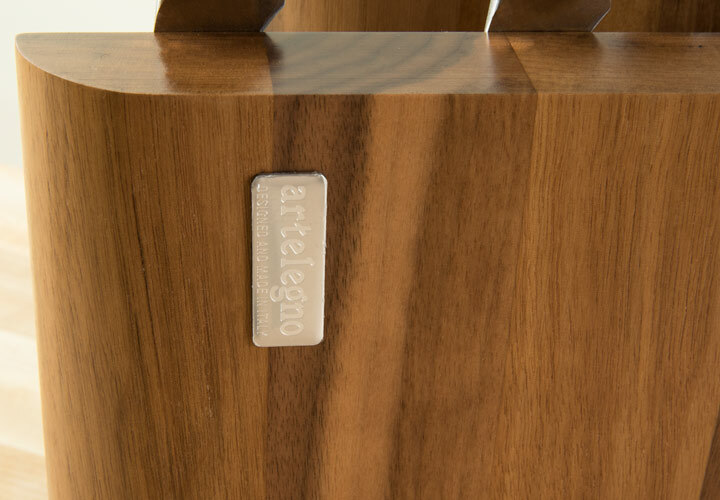 Italian Walnut Knife Block by Aretlegno