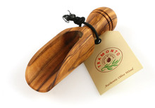 Tramanto olive wood salt scoop
