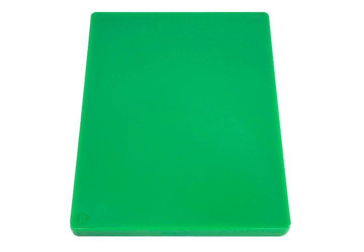Green commercial cutting board, HDPP.