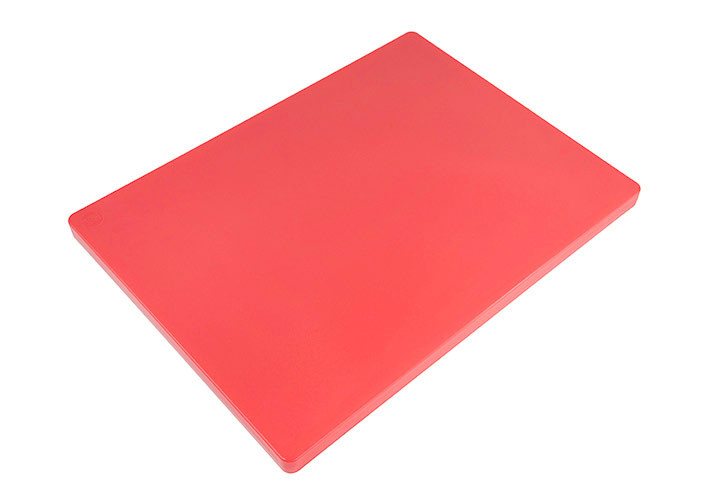 HACCP coded red cutting board.
