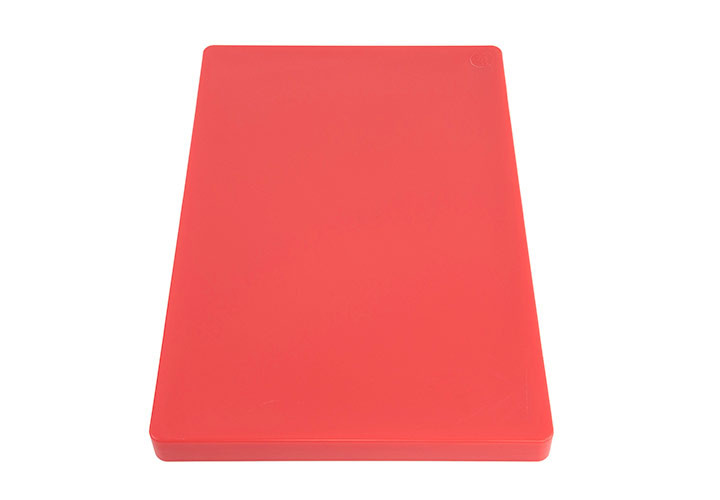 Commercial HDPP plastic cutting board, red