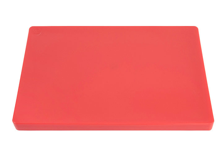 Thick commercial plastic red cutting board