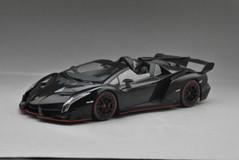 1/18 Kyosho Lamborghini Veneno Roadster (Black w/ Red Line)