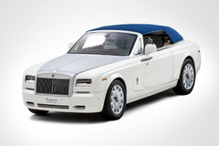 1/12 Kyosho Rolls-Royce Phantom Drophead Coupe (White) w/ Lights Diecast Car Model