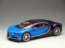 1/18 BBurago Bugatti Chiron (Blue) Diecast Model