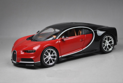 1 18 bburago bugatti chiron red diecast model. Black Bedroom Furniture Sets. Home Design Ideas