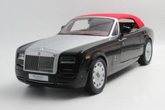 1/12 Kyosho Rolls-Royce Phantom Drophead Coupe (Black) w/ Lights Diecast Car Model