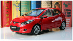 1/18 Dealer Edition Mazda 2 Hatchback (Red)