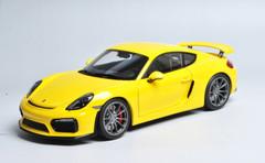 1/18 Schuco Porsche Cayman GT4 (Yellow)