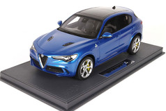 1/18 BBR Alfa Romeo Stelvio Quadrifoglio (Blue) Limited Resin Car Model