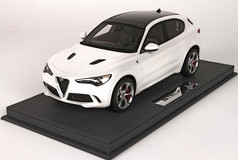 1/18 BBR Alfa Romeo Stelvio Quadrifoglio (White) Limited Resin Car Model