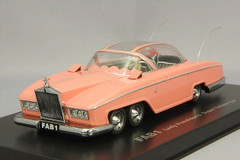 NEW IN BOX RARE HANDMADE RESIN 1/43 AMIE ROLLS-ROYCE LADY PENELOPE'S FAB1 MODEL