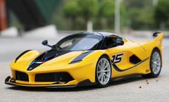 1/18 Bburago Ferrari Laferrari FXXK Evo #15 (Yellow) Diecast Model