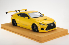 1/18 VAV Lexus RC F RCF Liberty Walk LB Wide Body Resin Enclosed Model (Yellow)