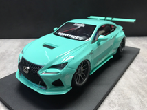 1/18 VAV Lexus RC F RCF Liberty Walk LB Wide Body Resin Enclosed Model (Blue)
