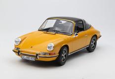 1/18 Norev 1969 Porsche 911E 911 E Targa (Orange) Diecast Model