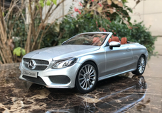 1/18 Dealer Edition Mercedes-Benz C-Class Coupe C-Klasse Cabriolet (Silver) Diecast Model