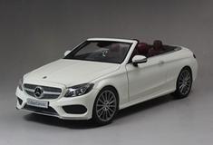 1/18 Dealer Edition Mercedes-Benz C-Class Coupe C-Klasse Cabriolet (White) Diecast Model