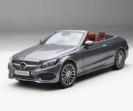 1/18 Dealer Edition Mercedes-Benz C-Class Coupe C-Klasse Cabriolet (Grey) Diecast Model