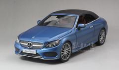1/18 Dealer Edition Mercedes-Benz C-Class Coupe C-Klasse Cabriolet (Blue) Diecast Model