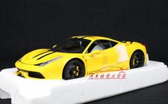1/18 Hot Wheels Hotwheels Elite Ferrari 458 Speciale (Yellow) Diecast Model