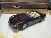 1/18 Hot Wheels Hotwheels Elite Ferrari 250 California (Brown) Diecast Model