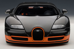 RARE 1/18 AUTOart BUGATTI VEYRON SUPER SPORT WORLD RECORD(BLACK/ORANGE SKIRTS)(LIMITED EDITION OF 1,000 PCS WORLDWIDE) Diecast Model 70935