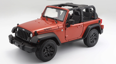 1/18 Maisto Jeep Wrangler (Orange) Diecast Model