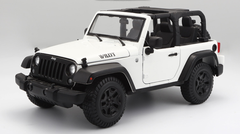 1/18 Maisto Jeep Wrangler (White) Diecast Model