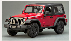 1/18 Maisto Jeep Wrangler w/ Top (Red) Diecast Model