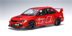 RARE 1/18 AUTOart MITSUBISHI LANCER EVO IX RALLIART (RED) Diecast Model 77196