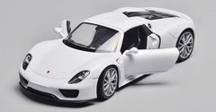 1/24 Welly FX Porsche 918 (White) Diecast Model