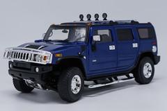 1/18 Highway 61 Highway61 Hummer H2 (Blue) Diecast Model