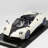 1/12 BBR Pagani Huayra Roadster (White w/ Blue Rims) Limited 20 Resin Car Model
