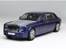 1/18 Kyosho Rolls-Royce Phantom EWB (Blue w/ Silver Hood) Diecast Car Model