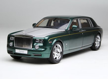 1/18 Kyosho Rolls-Royce Phantom EWB (Green w/ Silver Hood) Diecast Car Model