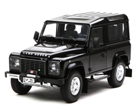 1/18 Kyosho Land Rover Defender 90 Short Wheelbase (Black) Diecast Car Model