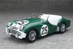 1/18 Kyosho Triumph 1959 TR3S LM No.25 (Green / White) Diecast Car Model